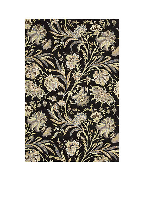 "Gatsby Black Area Rug 106"" x 8"