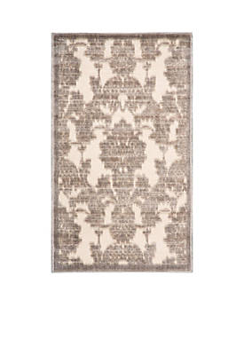 "Graphic Illusions Ivory/Latte Area Rug 38"" x 23"""