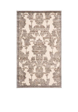 "Graphic Illusions Ivory/Latte Area Rug 56"" x 36"""