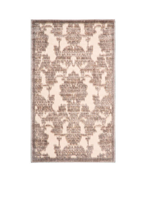 "Graphic Illusions Ivory/Latte Area Rug 75"" x 53"""