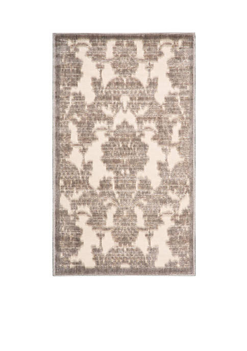 "Graphic Illusions Ivory/Latte Area Rug 1010"" x 79"""