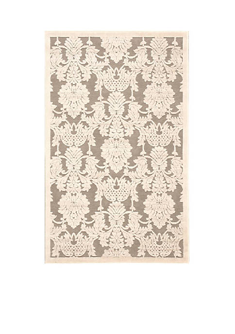 "Graphic Illusions Nickle Area Rug 76"" x 23"""