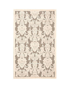 """Graphic Illusions Nickle Area Rug 56"""" x 36"""""""