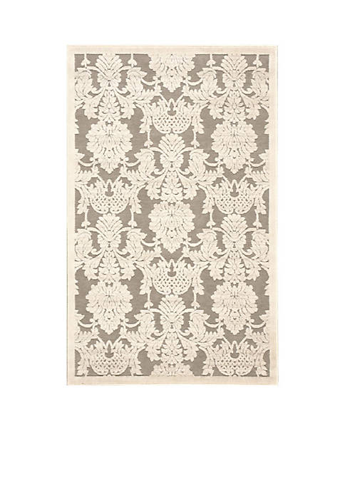 "Graphic Illusions Nickle Area Rug 75"" x 53"""