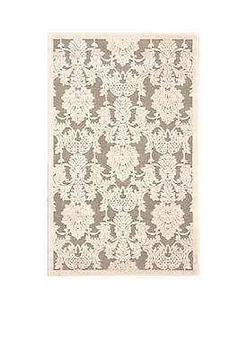"""Graphic Illusions Nickle Area Rug 1010"""" x 79"""""""