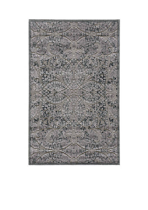 Nourison Graphic Illusions Scrolling Vines Grey Area Rug