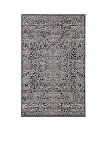 Graphic Illusions Scrolling Vines Grey Area Rug - Online Only