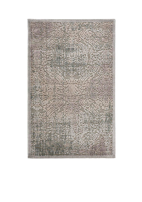 Nourison Graphic Illusions Damask Grey Area Rug