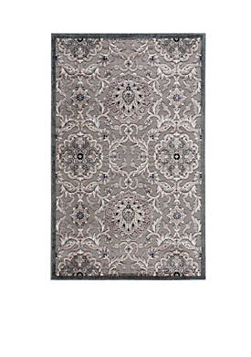 """Graphic Illusions Floral Grey Area Rug 8 x 23"""""""