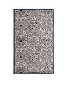 Graphic Illusions Floral Grey Area Rug 8' x 2'3\