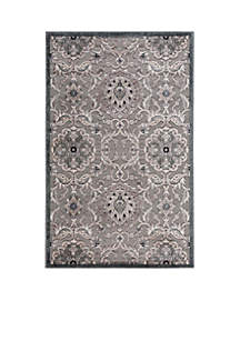 Graphic Illusions Floral Grey Area Rug 5'6\