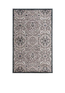 Graphic Illusions Floral Grey Area Rug 10'10\