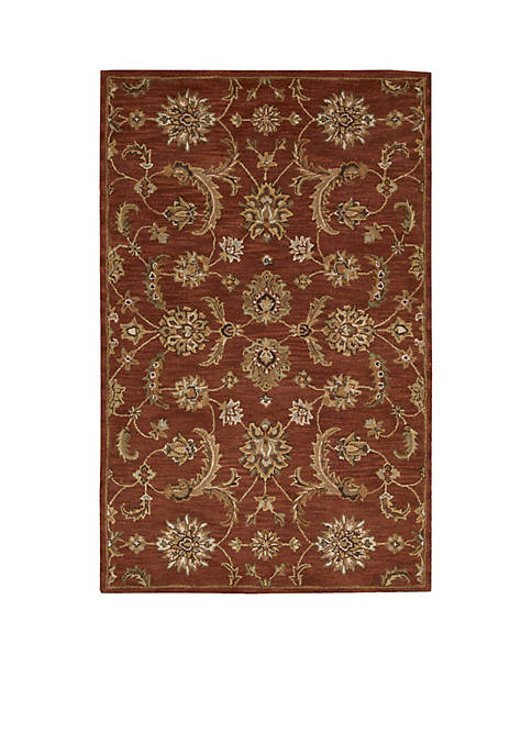 "Nourison India House Brick Area Rug 76"" x"