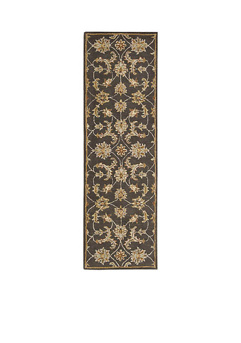 "Nourison India House Charcoal Area Rug 76"" x"