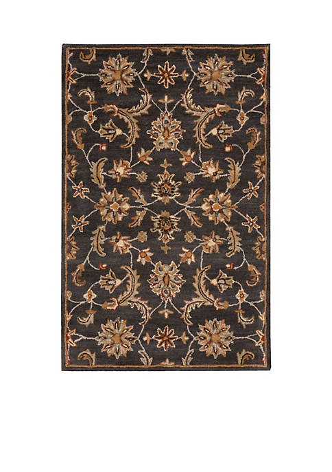 India House Charcoal Area Rug 4 x 26""