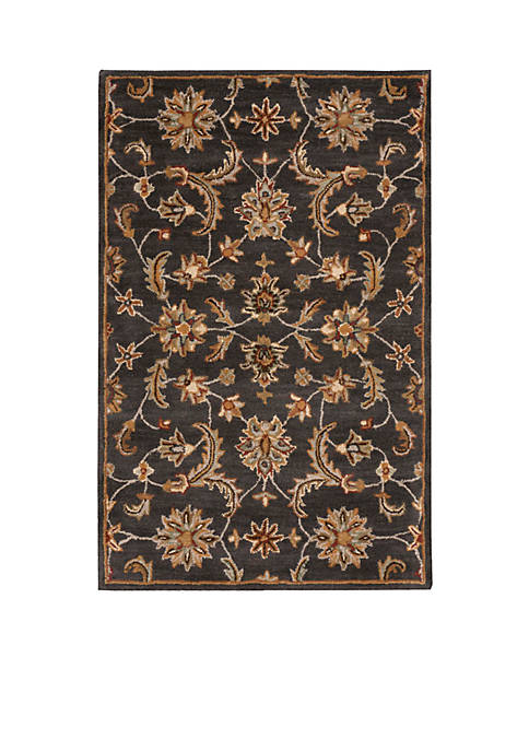 "India House Charcoal Area Rug 106"" x 8"