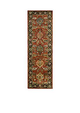 "Jaipur Floral Brick Area Rug 8 x 22"""