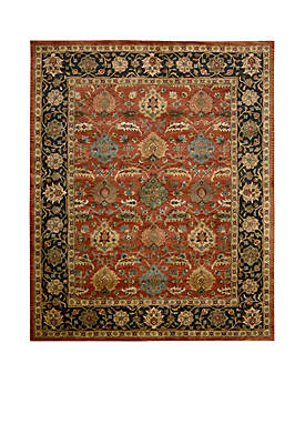 "Jaipur Floral Brick Area Rug 59"" x 39"""