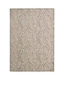 Hollywood Shim Paradise Cover Light Grey Area Rug 10'10\