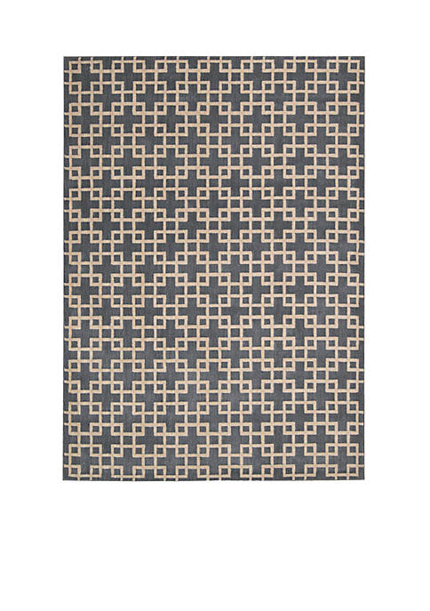 Hollywood Shim Times Square Steel Area Rug 75""