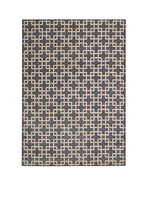 Hollywood Shim Times Square Steel Area Rug 1010""
