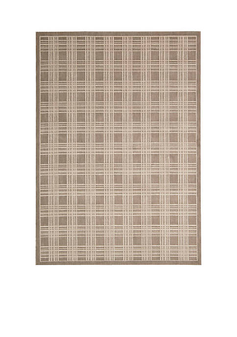 Hollywood Shim Mission Craft Mocha Area Rug 59""
