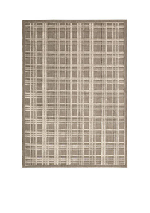Hollywood Shim Mission Craft Mocha Area Rug 75""