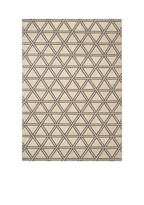 Hollywood Shim Metro Crossing Bisque Area Rug 59""