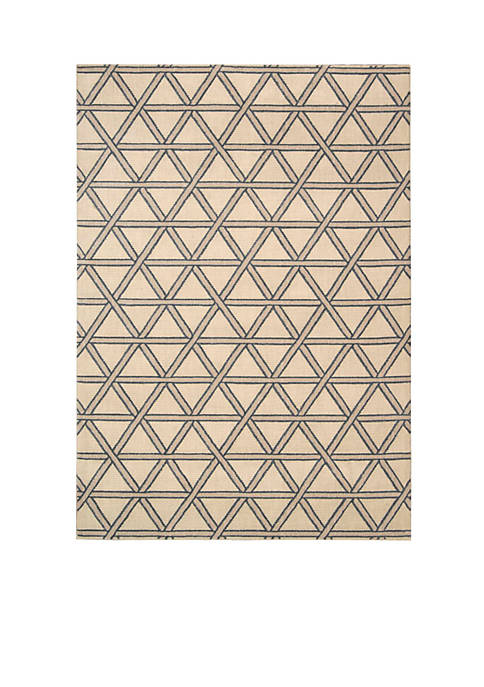 Hollywood Shim Metro Crossing Bisque Area Rug 75""