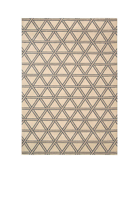 Hollywood Shim Metro Crossing Bisque Area Rug 1010""