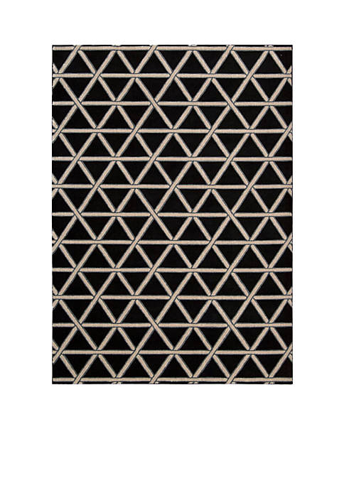 Hollywood Shim Metro Crossing Onyx Area Rug 59""