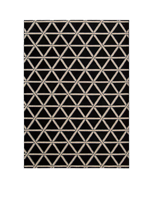 Hollywood Shim Metro Crossing Onyx Area Rug 75""