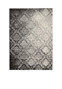 Santa Barbara Royal Shimmer Grey Area Rug 8' x 2'2\