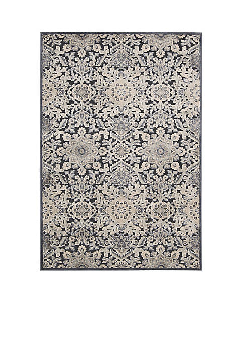 """Bel Air Marseille Charcoal Area Rug 21"""" x 7"""