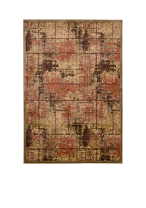 "Bel Air Montecito Brown Area Rug 21"" x"