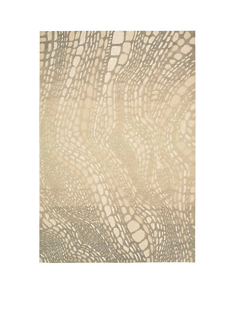 Palisades Lava Flow Light Olive Area Rug 59""
