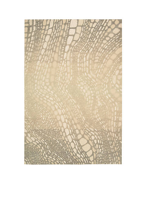 Palisades Lava Flow Light Olive Area Rug 76""