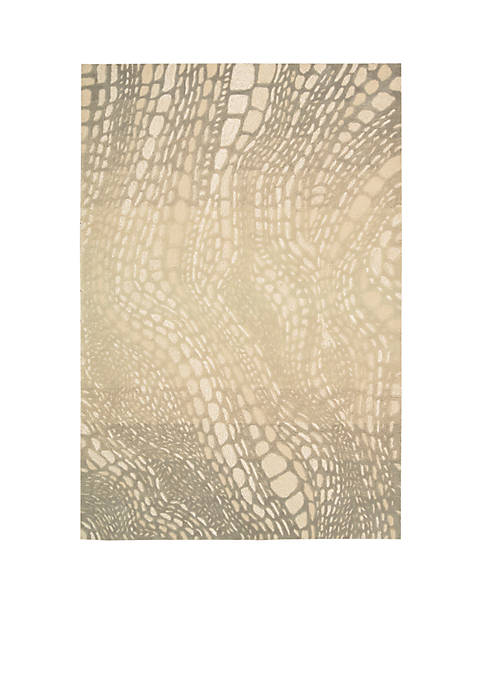 Palisades Lava Flow Light Olive Area Rug 106""