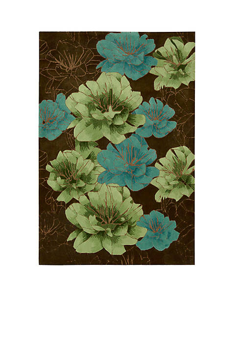 "Palisades Joshua Blossom Chocolate Area Rug 39"" x"