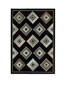 Palisades Retro Times Black Area Rug - Online Only