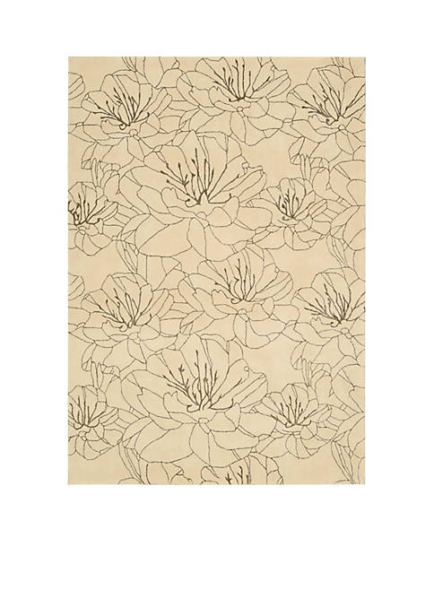 "Palisades Wildflowers Bisque Area Rug 39"" x 59"""