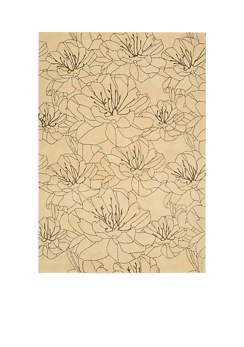 Palisades Wildflowers Bisque Area Rug 5 x 76""