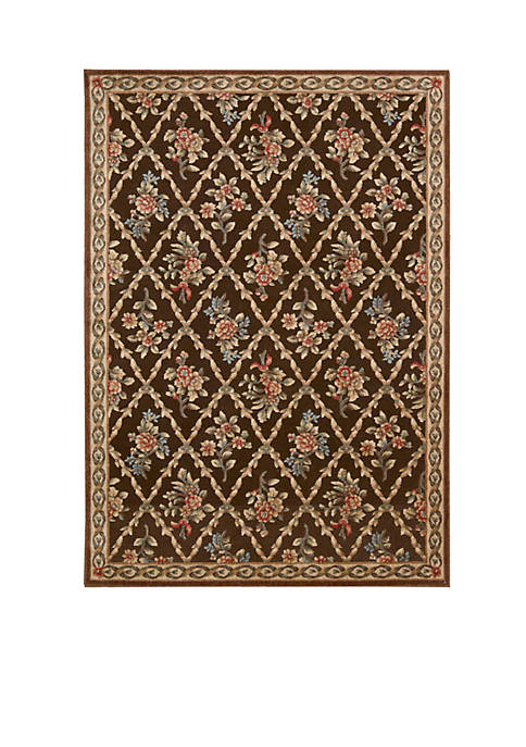 Villa Retreat Washington Estate Chocolate Area Rug 36""