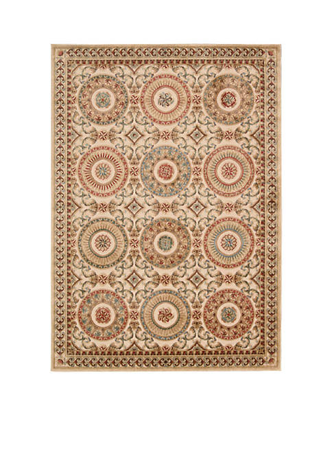 Villa Retreat Celestial Elegance Cream Area Rug 53""
