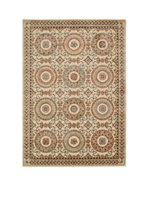 Villa Retreat Celestial Elegance Cream Area Rug 79""