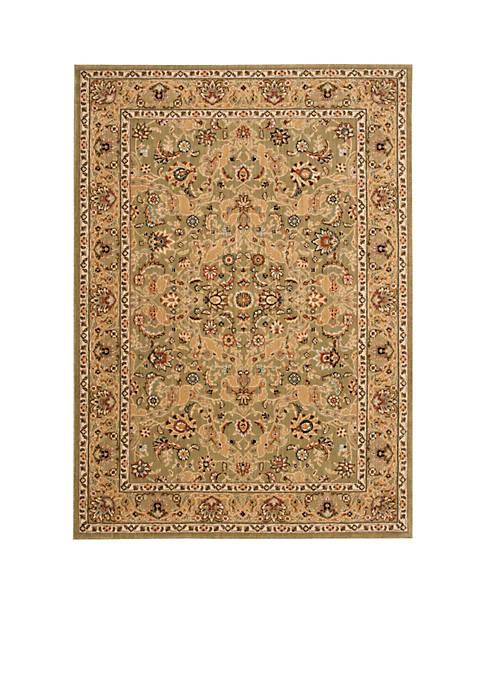"Lumiere Royal Countryside Sage Area Rug 23"" x 79"""