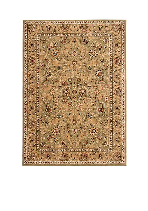 "Lumiere Royal Countryside Sage Area Rug 53"" x"