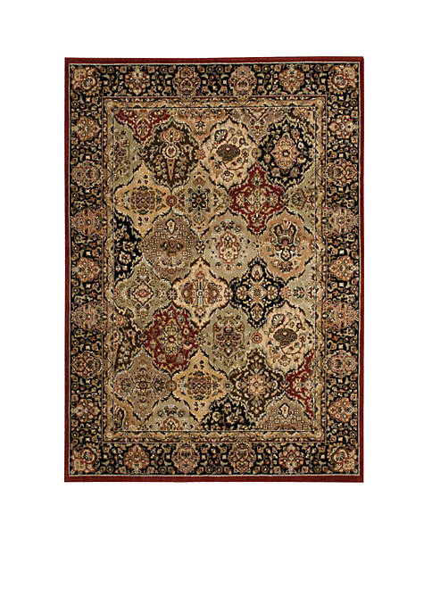 "Lumiere Persian Tapestry Multicolor Area Rug 79"" x"