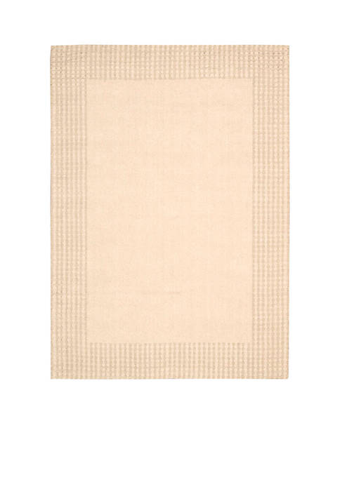 "Nourison Cottage Grove Bisque Area Rug 76"" x"
