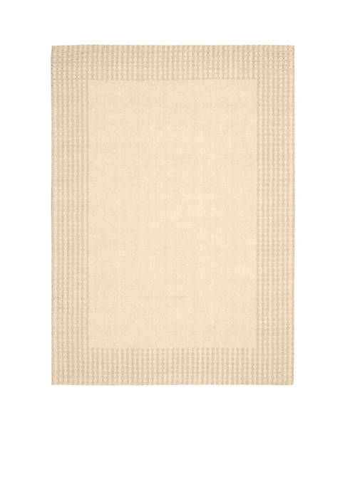 "Cottage Grove Bisque Area Rug 75"" x 53"""